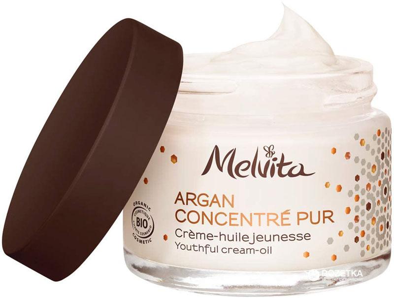 Test - Melvita – Crème Anti-âge Certifiée Bio Argan Concentré Pur – Crème Naturelle à 90%
